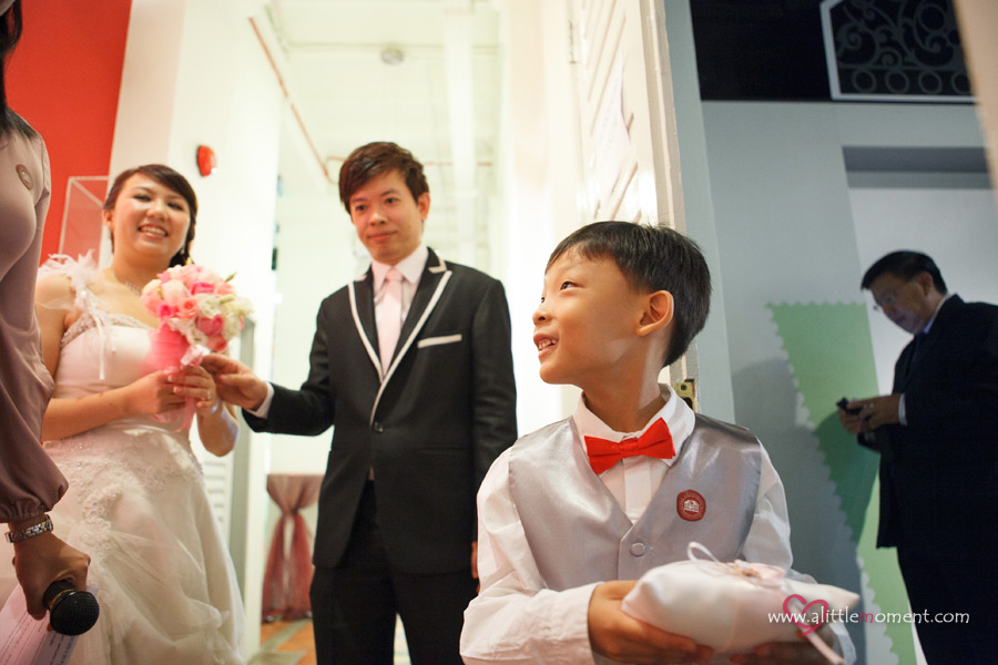 The Solemnization of Kaleen and Vincent by Sze Lee from A Little Moment Photography Singapore