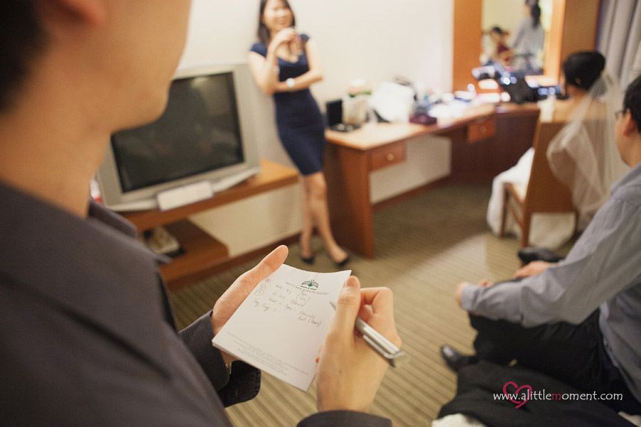 The Wedding Day of Agnes and Ming Khuan by A Little Moment Photography Singapore