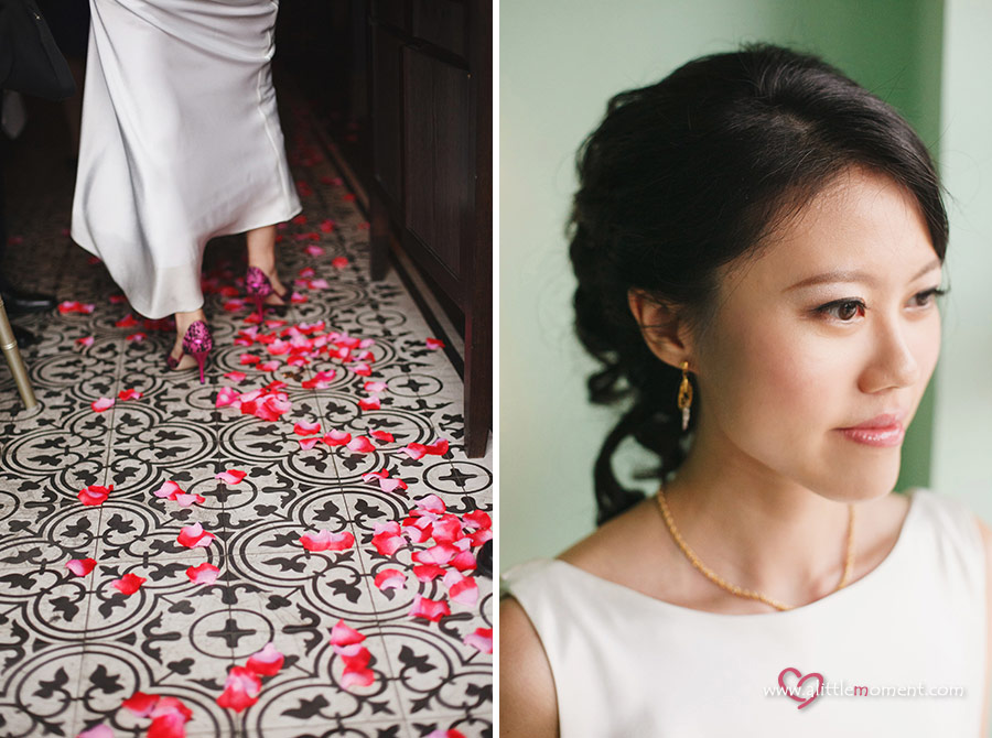 The Solemnization of Jia Min and Sze Chiang by Sze Lee from A Little Moment Photography Singapore