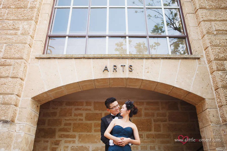 Agnes and Bobby's Perth Pre-Wedding  at UWA by Sze Lee from A Little Moment Photography Singapore
