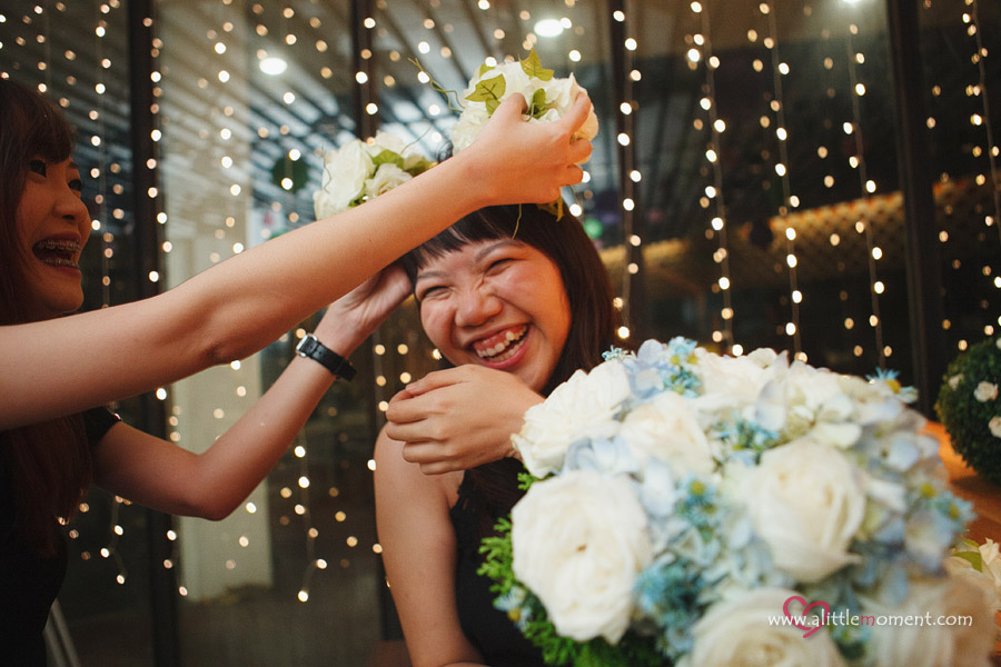 Shirley and Tatong's Solemnization Dinner at Food for Thought, Singapore Botanic Gardens by A Little Moment Wedding Photography Singapore